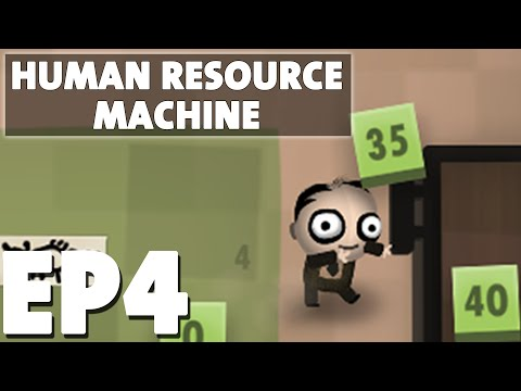 Let's Play Human Resource Machine Episode 4 - Step by Step - Puzzle Programming Game