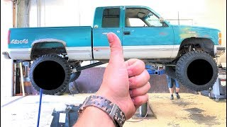 HUGE WHEELS AND TIRES FOR MY $1,200 CHEVY!!! (Looks Like a MONSTER TRUCK!) +  JEEP WRAP IS DONE...