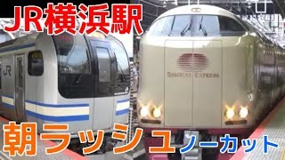 平日朝ラッシュ時(6時50分頃~8時55分頃)のJR東海道本線・横須賀線・...