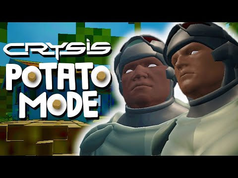 We Push Crysis Past The Lowest Settings And Regret Everything | Potato Mode