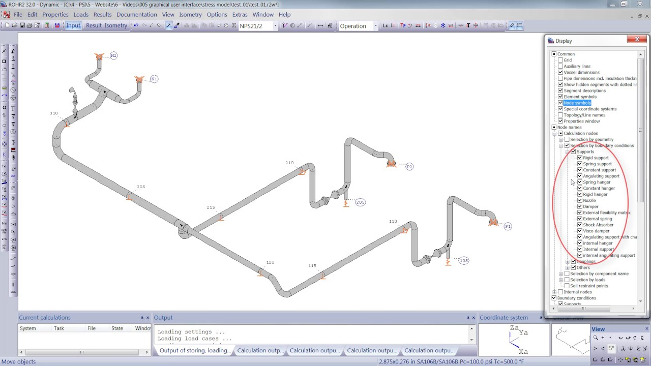 Graphical User Interface Tutorial for ROHR2 Pipe Stress Analysis Software