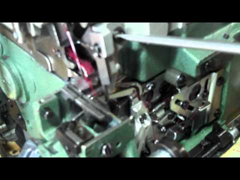 How to Make Stitch Narrow on Pegasus 3-Thread, 1-Needle, Cylinderbed Overlock Machine