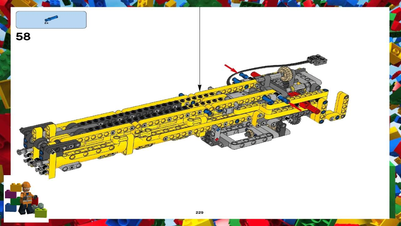 Lego Instructions Technic 42009 Reach Stacker Book 3 Youtube