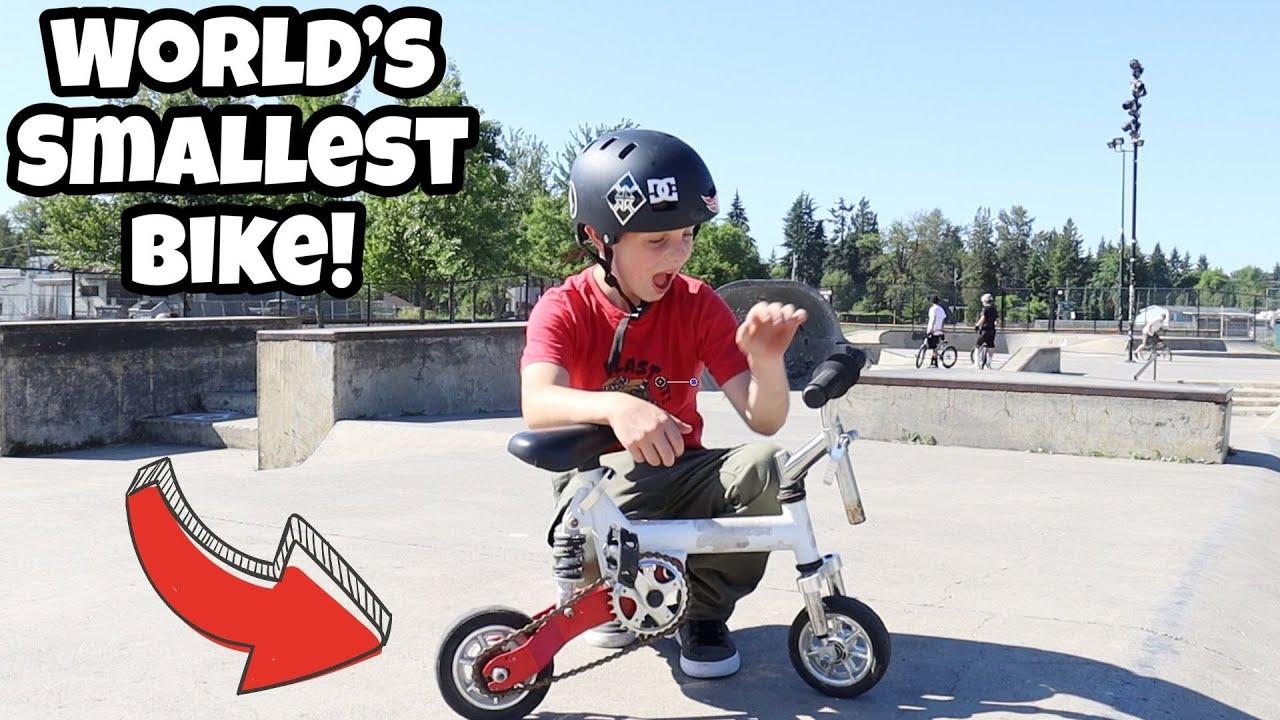 BMX Tricks on the World's Smallest Bike!