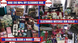 Run 🏃🏽♀️ Seriously Run Cvs 90% Off Clearance Haul~tons Of Electronics Beauty Decor & So Much More
