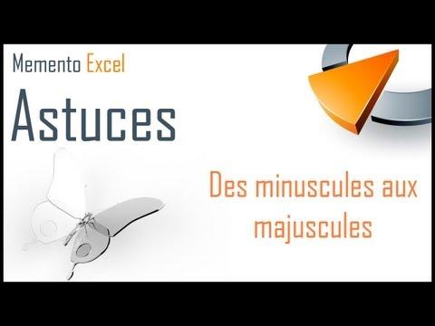 Passer des majuscules aux minuscules ou inversement dans Excel - Formation Excel Marseille
