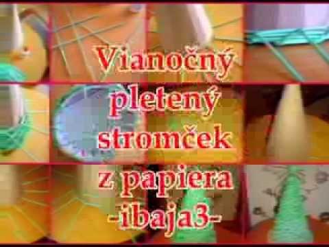 b22e3dea2 Vianočný stromček z papiera - Knitted Christmas tree made of paper ...