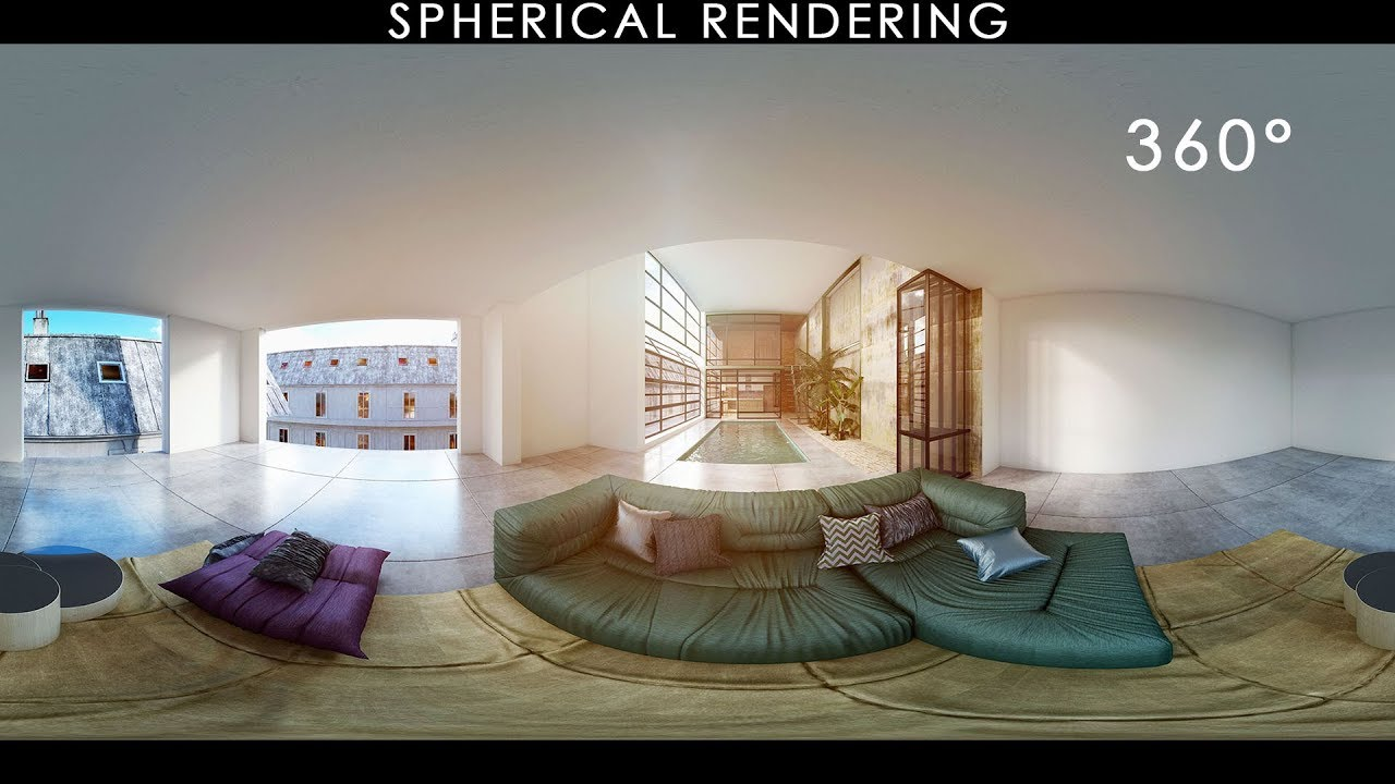 Create 360° Spherical Renders and Showcase with VR Viewers