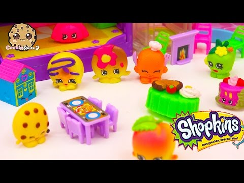 Shopkins HOLIDAY PARTY With Season 4 Petkins - Somekins Has A Crush? - Cookieswirlc Play Video