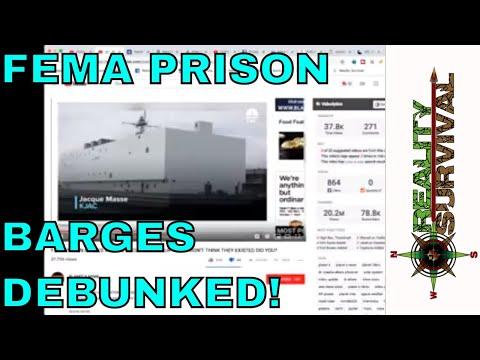FEMA Prison Barges - Debunked!