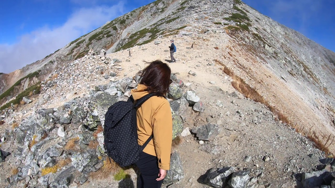 Hiking up to the top of Mount Tateyama, Japan