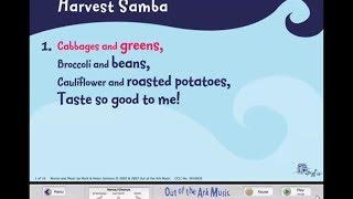 Harvest Samba - Words on Screen™ Original - School Songs