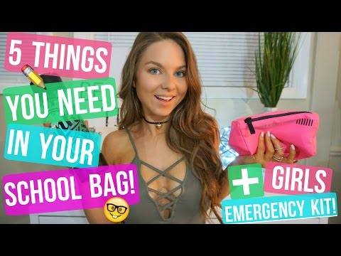 5 THINGS YOU NEED IN YOUR SCHOOL BAG + GIRLS EMERGENCY KIT!