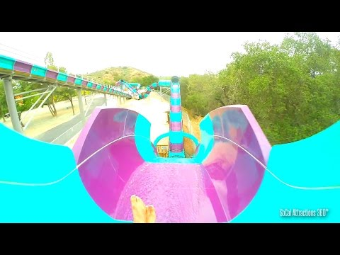 Aqua Rocket Water Coaster (HD POV) - California's First Water Coaster - Raging Waters 2015