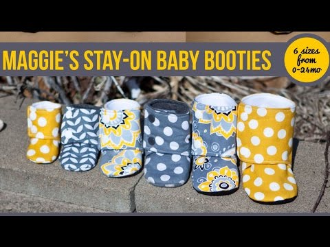 Maggie's Stay On Baby Booties Sewing Tutorial