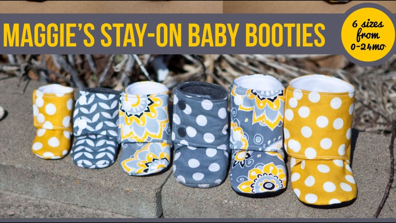 ea2e59ba71bf3 Maggie's Stay On Baby Booties Sewing Tutorial