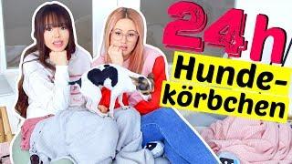 24 STUNDEN eingesperrt im Hundekörbchen 😓 | ViktoriaSarina