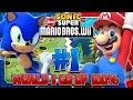 Sonic & Mario in New Super Mario Bros Wii - Co Op 100% - Part 1