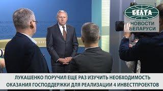 Лукашенко поручил изучить необходимость оказания господдержки для реализации 4 инвестпроектов