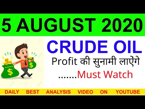 Crude oil complete analysis for 5 AUGUST 2020 | crude oil strategy | intraday strategy for crude oil
