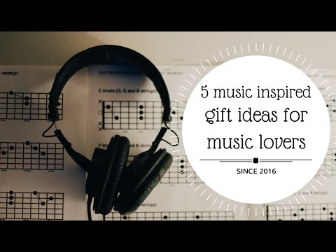 5 MUSIC INSPIRED DIY GIFT IDEAS FOR MUSIC LOVERS🌟💡