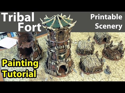 How to Paint Printable Scenery's Tribal Fort