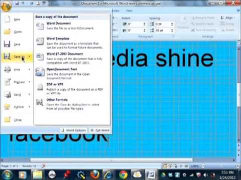 Facebook ! How to turn a Word doc into a Jpeg and upload it to ...