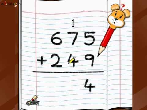 Maths - Add three digit numbers - English