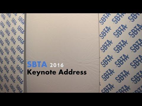 SBTA 2016 Keynote Presentation