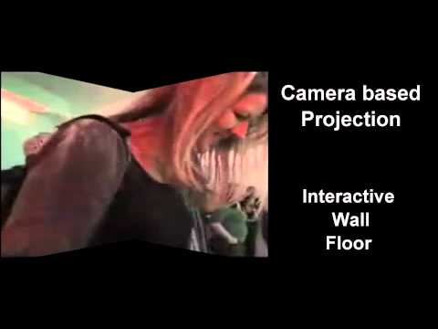 Camera motion interactive floor and wall
