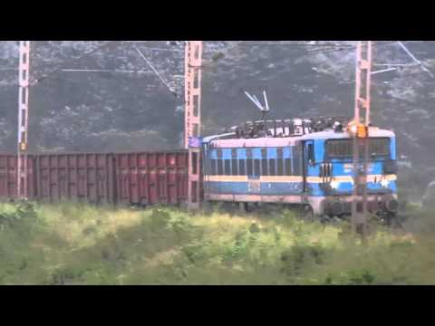 Classic WAM4 tackling the Spiral and Crossing - Indian Railways