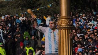 Argentine fans react to Messi's penalty miss