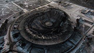 Как разрушенный СКК выглядит с высоты