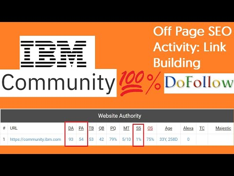 Off-Page SEO: Instant Approval Dofollow Backlink from IBM