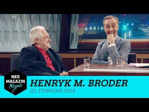 Heute zu Gast: Henryk M. Broder   NEO MAGAZIN ROYALE mit Jan Böhmermann