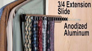 Synergy Sliding Tie Rack | Wrinkle-free Tie Storage