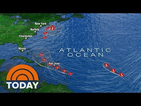 3 Major Storms Loom As Hurricane Jose Moves North | TODAY