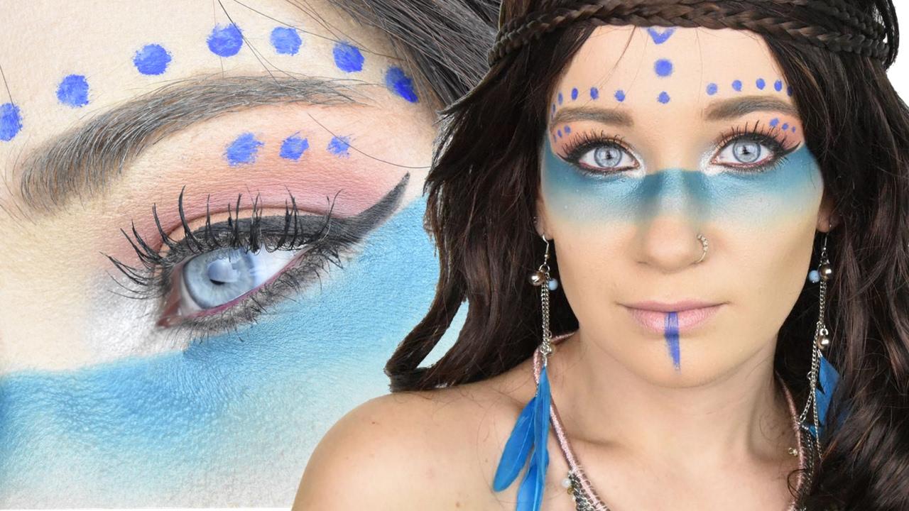 Popolare Trucco carnevale - Indiana d'America \\ Makeup Kira Tutorial - YouTube TD02