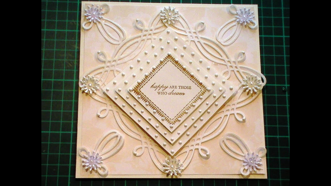 65 Cardmaking Tutorial Anna Griffin Fretwork Celtic Die