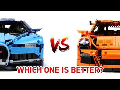 LEGO Technic Bugatti Chiron VS Porsche 911 GT3 RS: Which one is better? [4K]