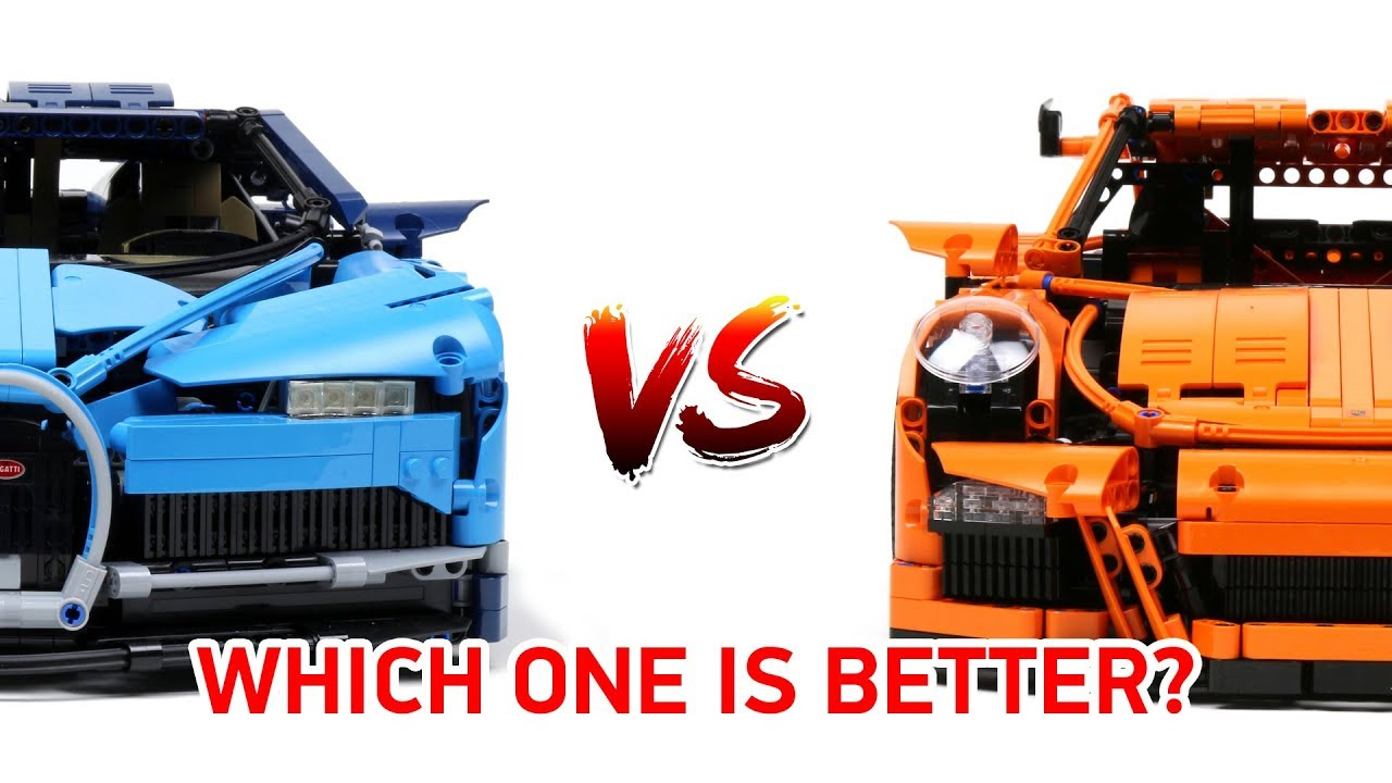 porsche lego  LEGO Technic Bugatti Chiron VS Porsche 911 GT3 RS: Which one is ...