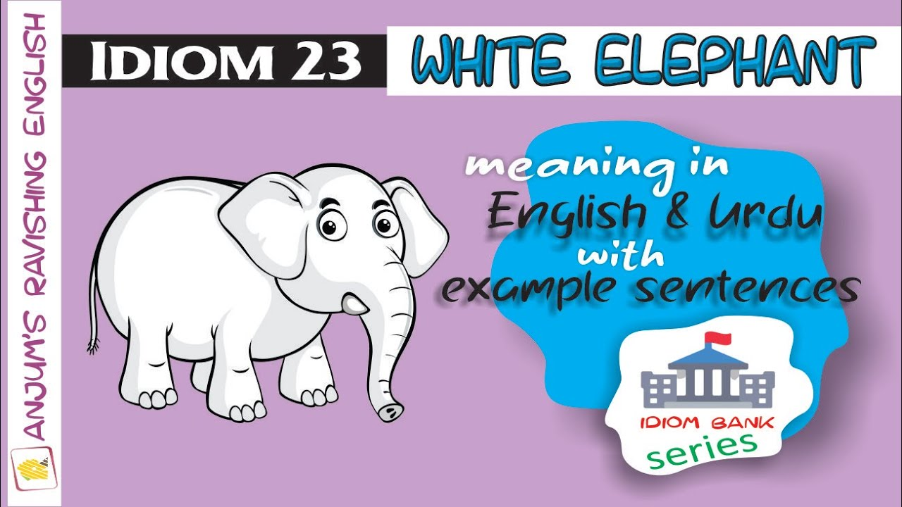 Idiom 20 White elephant   English Idioms & Phrases with Meanings ...