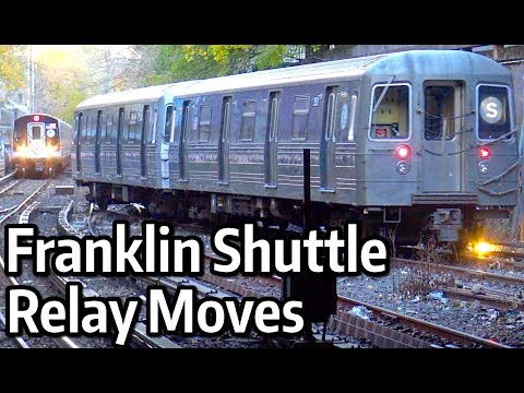 ⁴ᴷ Franklin Shuttle trains relaying south of Prospect Park