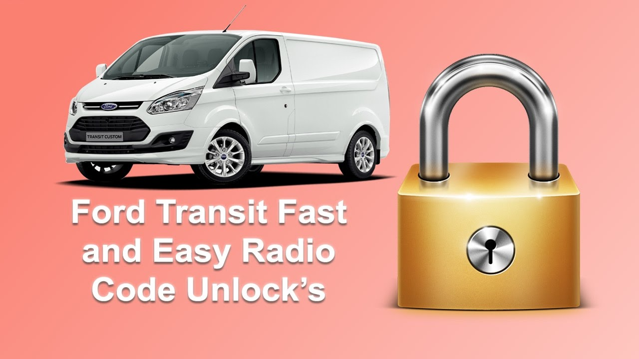 how to find your ford transit radio code serial stereo unlock