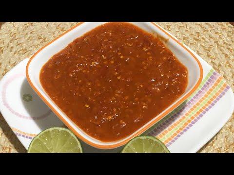 Red chili salsa recipe Chipotle style / Chipotle Hot salsa