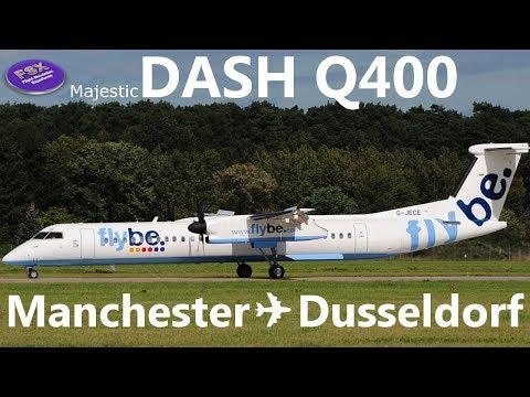[FSX] [IVAO] Bombardier Dash 8 Q400 FlyBe | Manchester ✈ Dusseldorf