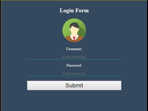 Simple HTML Form With Css - Part 1 Of 2