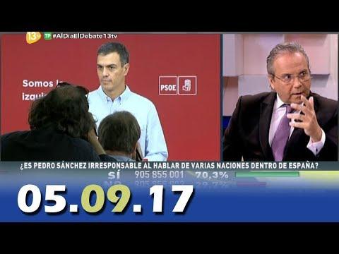 Al Día Debate Político 13tv 05.09.17 | Programa Completo