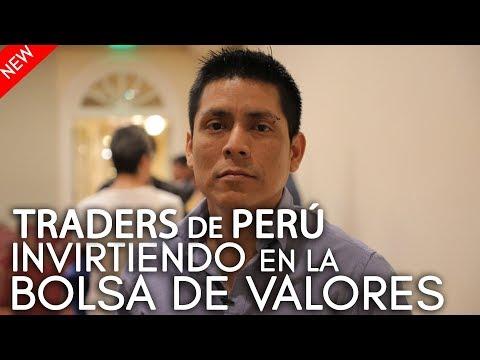 Traders de Perú invirtiendo en la bolsa de valores