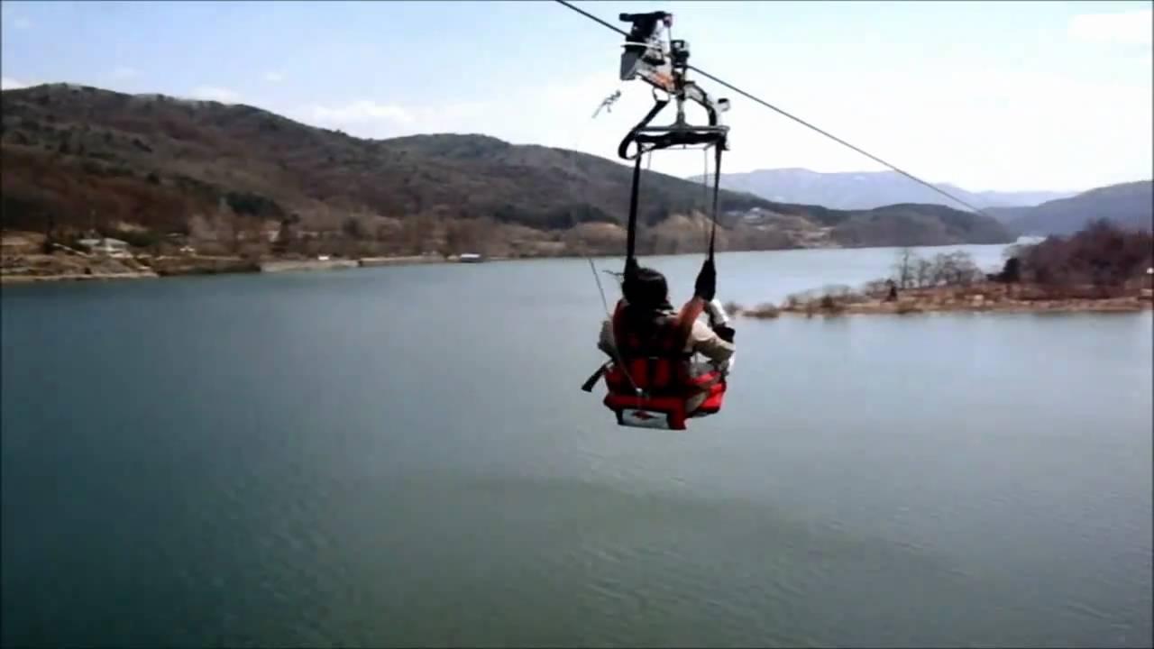 Nami Skyline ZipWire ZipRider (zip line) from Gapyeong to Nami ...